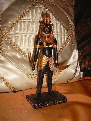 Sachmet Sekhmet  stehend Ägypten Figur  schwarz/gold Veronese NEU