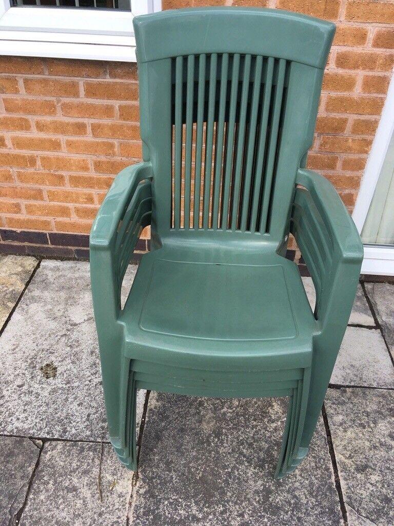 Green Plastic Stackable Garden Chairs Garden Ideas