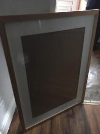 Oak surround glass frame
