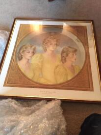 Triple print of Diana by John merton