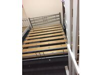 Metal double bed frame wooden slats good condition