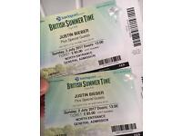 x2 Justin Bieber Plus Special Guests tickets - Hyde Park 02 JULY 2017
