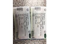 I have two tickets for England v India at Trent bridge, Thursday 12th July