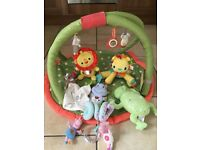 Baby toys and maternity bag