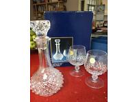 Longchamps lead Crystal Decanter set