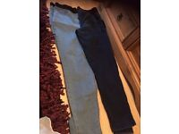 jeggings denim two pairs size 20