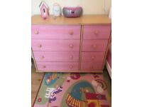 Large pink chest of drawers