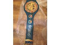 Floyd Mayweather jr signed boxing belt W/COA *** Limited Edition****