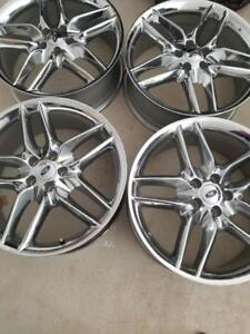 BRAND NEW NEVER MOUNTED FORD  TAURUS / FLEX / EDGE  FACTORY OEM 20 INCH ALLOY WHEEL SET OF FOUR.