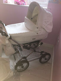 prestige . White leather. pram