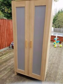 ikea wardrobes x2 as per pic 170cc tall 80 cm w 50cm deep tel 07543187510