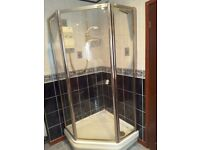 Complete electric shower 900 x 900 mm
