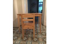 Children's oak desk and chair (4-8 yrs). Pin Furniture