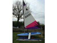Topper Dinghy Sail Number 36899 2 sails launch trolley foil bag spar bag
