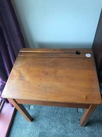 Original wooden school desk- well used!