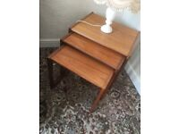 G Plan Nest of 3 coffee tables in Teak