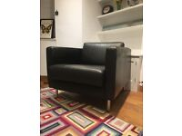 Soft leather chocolate brown arm chair - £30 ono