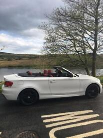 BMW 120d M Sport Convertible in white
