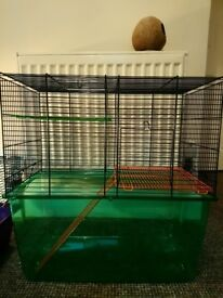 Two cages suitable for Hamsters/Gerbils/Mice.