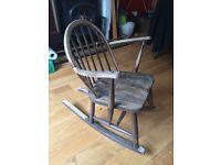 Ercol Vintage Wooden Rocking Chair
