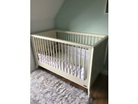 Mamas & Papas Cot Bed and Changing Table Set, plus Mothercare Mattress