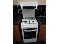 As New condition BEKO BA52NEW Freestanding Gas Cooker with 4 Burner Hob and Oven and Separate Grill