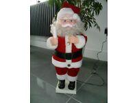 Vintage Father Christmas Display Motion Figure