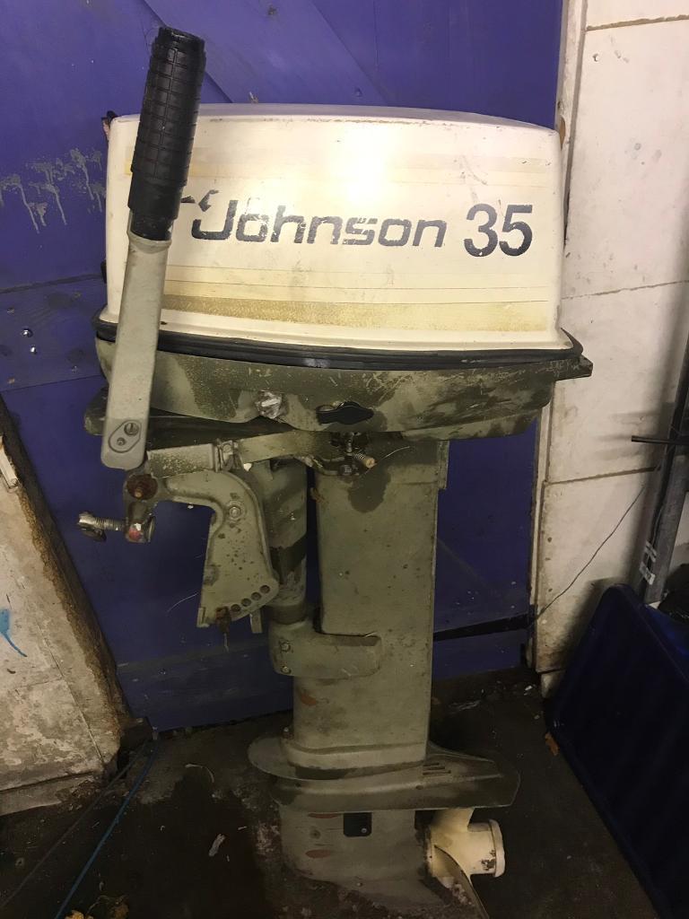 Evinrude Johnson 35hp 2 stroke outboard boat engine | in Exmouth, Devon |  Gumtree