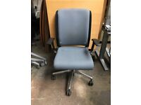 Blue Fabric Executive Office Desk Chair | Fully Adjustable