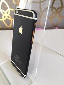 iPhone 6 custom Black with gold