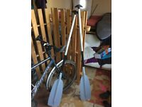 2 canoe paddles, adjustable lengths, good condition