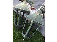 2 x large outdoor wall lanterns