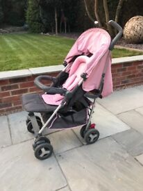 Silver cross reflex vintage pink stroller