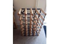 24 bottle wooden wine rack