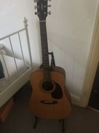 Corts Acoustic Guitar ALMOST New , comes with extras, 2 bags, stay and Electric tuner £85