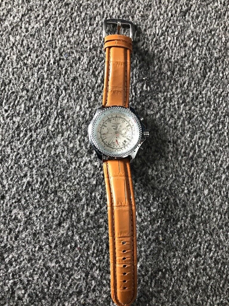 Breitling Navitimer, new leather breitling strap, automatic