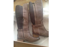 Dune Real Leather Boots, size 3