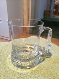 Pair Of Waisted Pint Glass Tankards