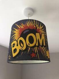 "Ceiling lamp shade - Children's ""Boom Pow Bam"""