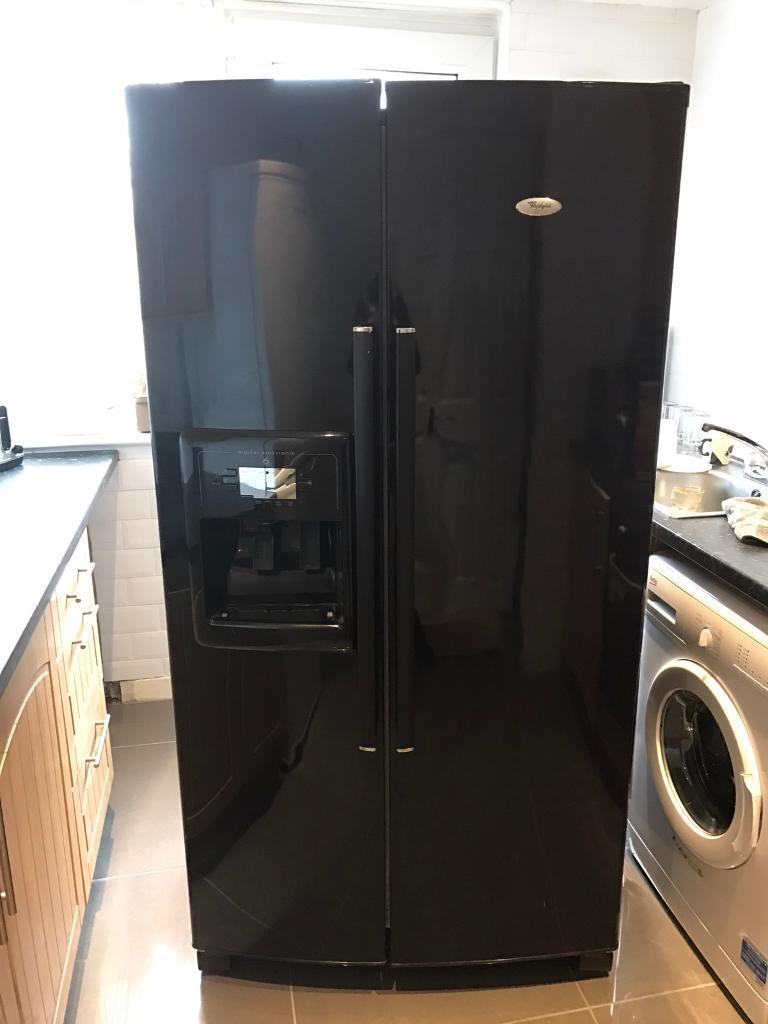 Black Whirlpool American Fridge Freezer Ice Water In