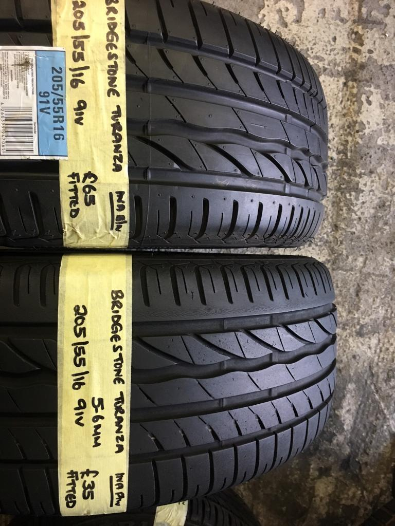205/55/16 91V BRIDGESTONE TURANZA PAIR OF 2 tyres