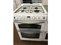 60CM WHITE BELLING GAS COOKER