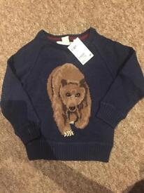 BRAND NEW H and M Bear jumper