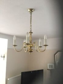 5 Candle Bulb Candelabra Style Ceiling Light