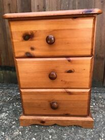 Antique Pine Bedside Cabinet