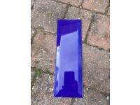 Royal blue bevelled tiles