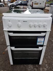 BEKO BDVG693WP 60cm FULL GAS DOUBLE OVEN COOKER(second hand) 07951551712