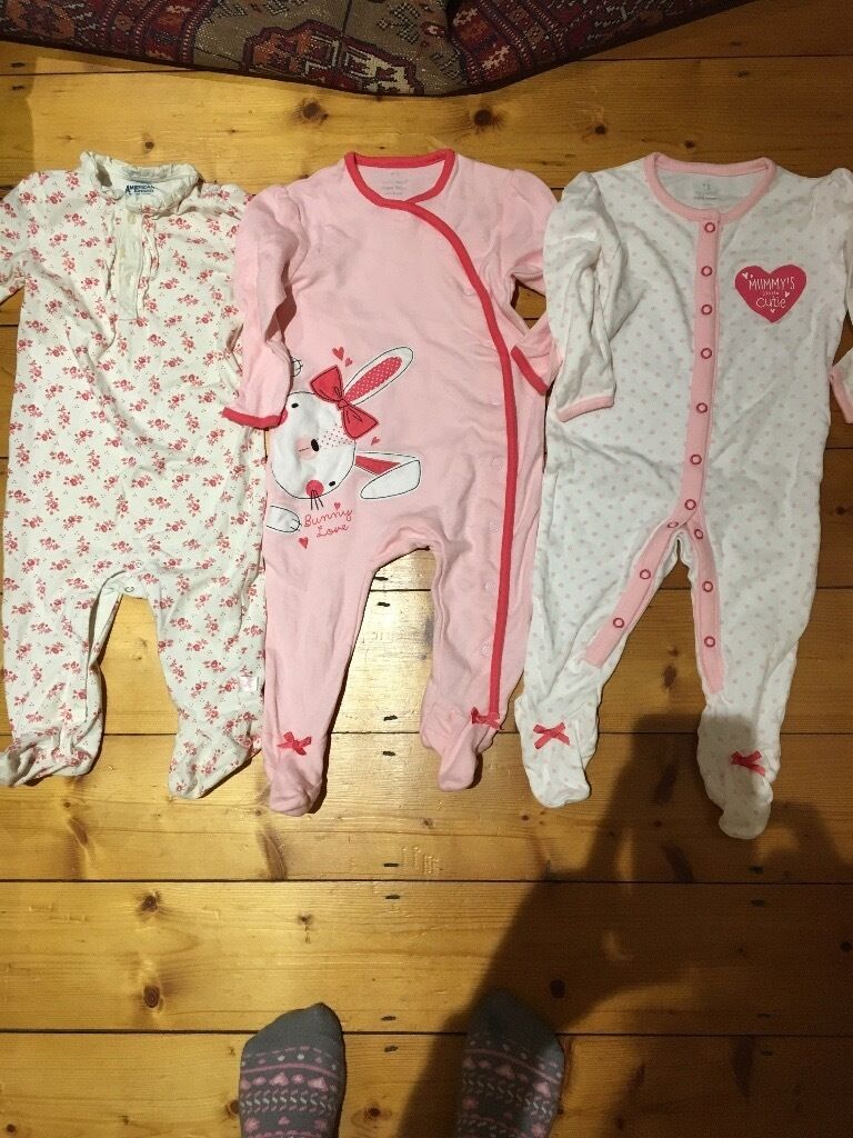 3 new all in one baby grow 6-9 month