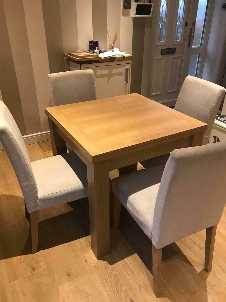 Next Extendable Dining Table Seats 4 6 Light Wood Chairs