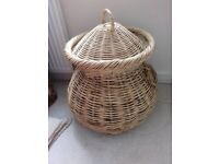 Whicker basket, unusual snake charmer type